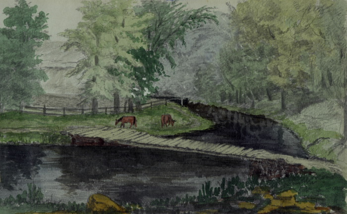 Humber River bridge across W. Wadsworth's Mill Head 1871