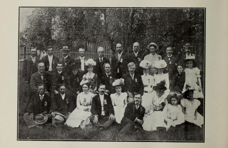 Re-Union of Ex-Pupils August 1900 GM Lyons third from right